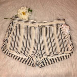 NWT Free People Blue/White Cotton Shorts Size-2(?4